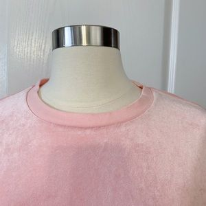 Juicy Couture Tops - Juicy Couture Pink Velour Sweatshirt. Sz. Small